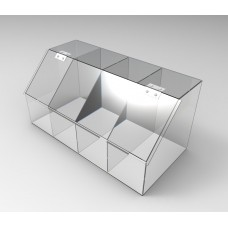FixtureDisplays Clear Acrylic Candy Bin Partitioned Dry Food Display Spices  Container Retail Donut Cookie Bin 100826 ...