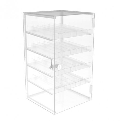 fixture displays clear nail polish display acrylic locking cabinet plexiglass cosmetic case lucite locking showcase w