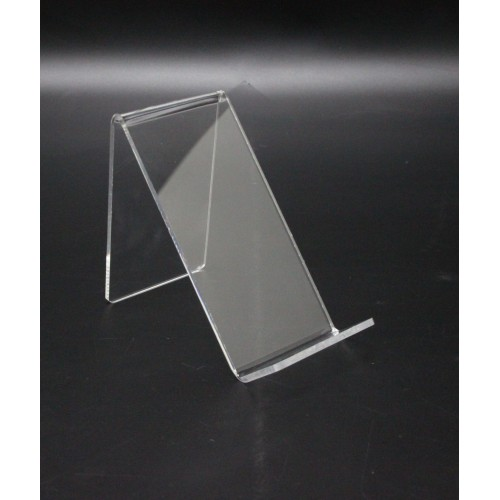 """6/"""" Clear Acrylic Easels to Display Books and Bowls Set of 3"""