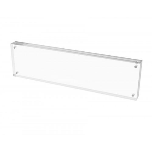 Plaxiglass Acrylic Sign Holder Logo Block Picture Frame 11\