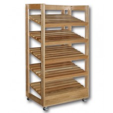 Bakery Bread Rack With Angled Shelves Wooden Display Rack Bread