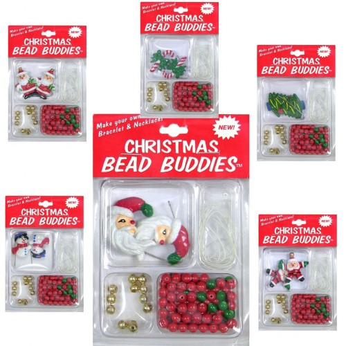 bead buddies holiday craft kits make your own holiday wear102753 santa holding present pre
