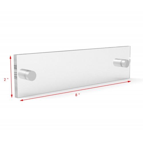 Clear Sign Name Holder Plexiglass 6X6 Wallmount Poster Frame Standoff