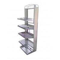 FixtureDisplays Display Floor Stand Beverage Soda Wire Rack Stand Floor in 4 Levels 11490 11490