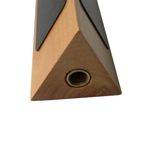 Triangular Shape Classic Beer Tap Handle with Three Sided Chalkboard
