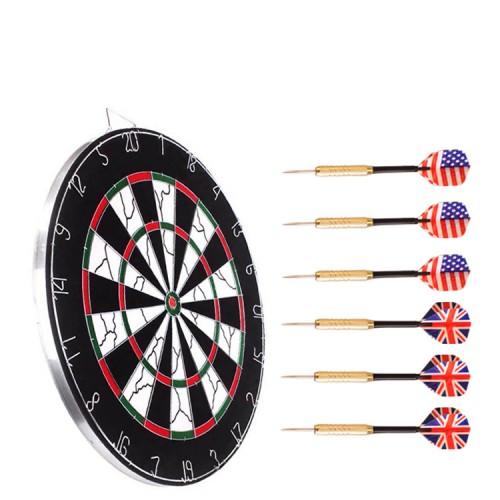 "Quality Blade Dart Board 18/"" Champion Tournament Bristle Dartboard Bonus 6 Darts"