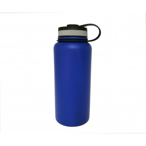 946e6c345be FixtureDisplays 32-Ounce Insulated Wide Mouth Stainless Steel Water Bottle  Beer Growler Outdoor Sport Water ...