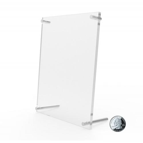2-PackClear Acrylic Double-Sided Landscape//Portrait Magnetic Block Frame 5x7″