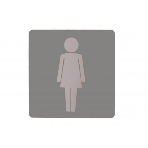 Fixturedisplays Grey Female Toilet Sign Girl S Bathroom Sign
