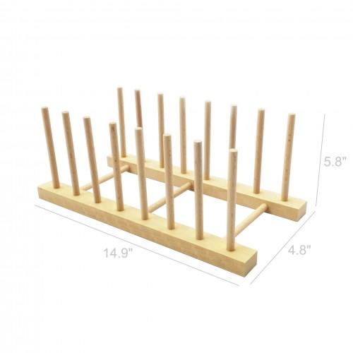 Wood Plate Holder Dish Rack Drain Storage Display Stand Kitchen Fascinating Dish Display Stands