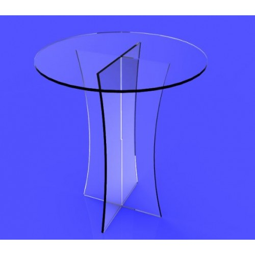 ... FixtureDisplays® Clear Plexiglass Lucite Acrylic Round Dining/  Tradeshow Table, 29