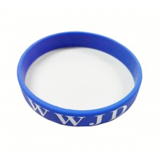 Fixture Displays Blue Silicone Wristband Bracelet WWJD Christian Gift Bracelet What Would Jesus Do 100780-RED