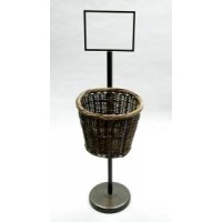 Bronze Finish Round Willow Basket - Pole Mounted 101182