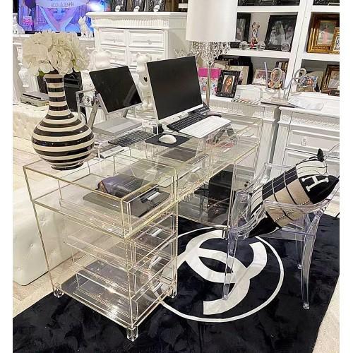 Fixture Displays Clear Plexiglass Desk Executive Table