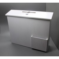 Fixture Displays® White Wood Collection Box Suggestion Box Donation Charity Box Fundraising Box 1040-85-WT