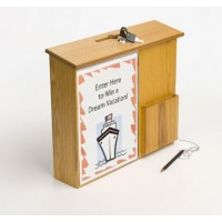Fixture Displays® Box,Collection Donation Charity,Suggestion,Fund-raising with Acrylic Sign Holder 1040-85MO+12065