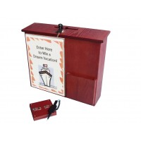 Fixture Displays® Box,Collection Donation Charity,Suggestion,Fund-raising with Acrylic Sign Holder 1040-85RM+12065