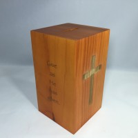 Fixture Displays® Box, Wood Collection Donation Church Offering Coin Collection Fundraising w/ verse 10887