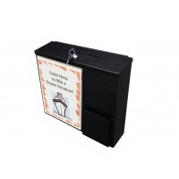 Fixture Displays® Metal Collection Box Suggestion Box Donation Charity Box Fundraising Box with Sign Holder 10918+12065