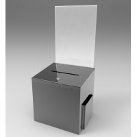 Fixture Displays Metal Donation Box Suggestion Box Fund-Raising Box Collection Charity Ballot Box 8.5x11 Header
