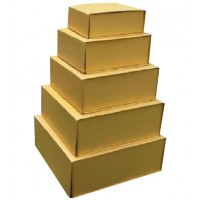 Fixture Displays® Box, Gift Gold Handmade Magnetic Closure Packaging Set of 5 10999G