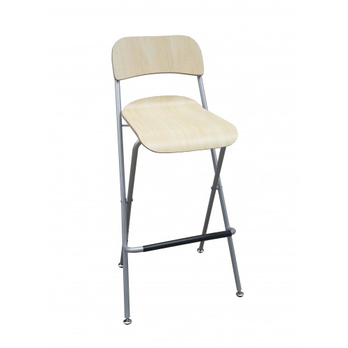 Chair Folding Bistro Bar Stool Wood Metal Two Pack