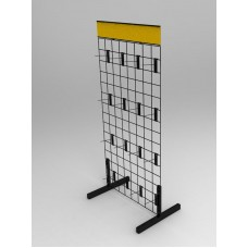 Fixture Displays® Display, Gridwall Freestanding Wall Rack 11051