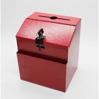 Fixture Displays®Red Box, Metal Donation Suggestion Key Drop 7