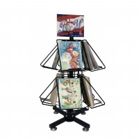 Fixture Displays® Display, DVD Book CD Spinner Rack 1113-BK28