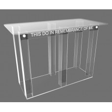 Fixture Displays® Podium, Tablemount  Clear Ghost Acrylic 11461
