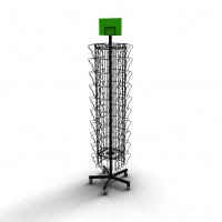 Fixture Displays® Display, Spinning Greeting Post Birthday Wire Rack 11471