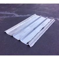 FixtureDisplays® 10 Sheets of Corrugated Metal Roof Sheets Galvanized Metal 11525-USED