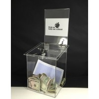 Fixture Displays® Box, Clear Ghost Acrylic Church Donation Suggestion Ballot Fund Raising11572