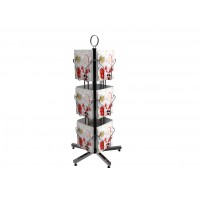 Fixture Displays® 12 Vertical Pockets Display, Greeting Post Card Christmas Holiday Spinning Rack Stand 11702