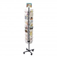 Fixture Displays® Display, Spinning Greeting Post Birthday Christmas Holiday Card Rack Stand 11704