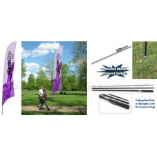 17' Custom Feather Flag with Ground Spike - Full Color Digital Printing 119049