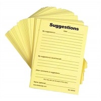 Suggestion Form Pad, (100) 4 x 6 Sheets - Yellow 119581
