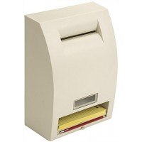 Ballot Box with Lock, Wall Mount or Countertop, Viewing Window & Security Pen-Ivory 119595