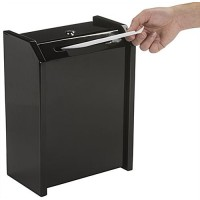 Metal Ballot Box with Lock, Wall Mount or Countertop, Top Loading Insert Slot-Black 119605