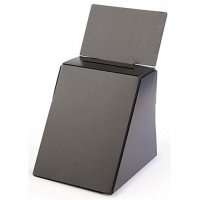Cardboard Ballot Box with Removable Header - Black 119610