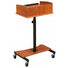 "24""W Adjustable Laptop Stand, with Slide-Out Shelf, Tilting Surface - Cherry 119681"
