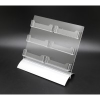 Fixture Displays 6-Pocket Clear Acrylic Business Card Holder Gift Card Holder 119937