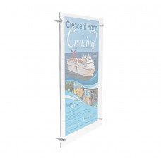 24 x 36 Acrylic Sign Holder for Wall, Standoff Hardware & Magnets - Clear