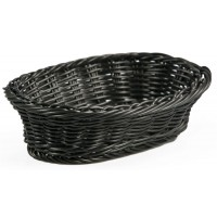 Fixture Displays Oval Woven Basket, Plastic - Black 120015