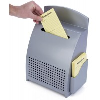 Fixture Displays Metal Ballot Box w/ Lock, Countertop, Front Loading, Side Pocket - Silver 120039