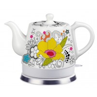 Fixture Displays® Teapot, Ceramic, Teamaker, Large Yellow Flower 12039