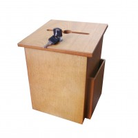 Fixture Displays® Wood Suggestion Box Charity Collection Ballot Fundraising Box 12151