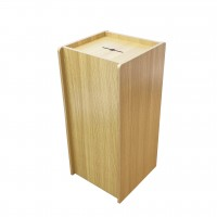Fixture Displays® Wood (MDF Veneer) Donation Box Tithing Box Fundraising Stand 13155