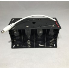 FixtureDisplays D1 Battery Housing Battery Pack Holder DC Connector Hard Plastic Battery Housing 13159