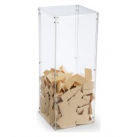 Fixture Displays® Clear Plexiglass Acrylic Transparent Donation Box, Fund Raising Stand Display, Tithing Box 13192